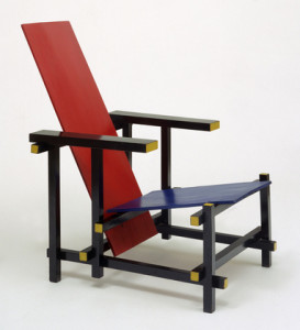 Rood-blauwe-stoel-Dutch-design-van-Rietveld