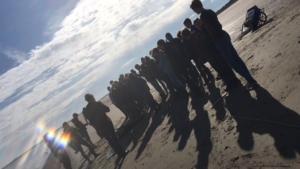 Leerlingen tvw2b op veldwerk naar Serooskerke, Zeeland